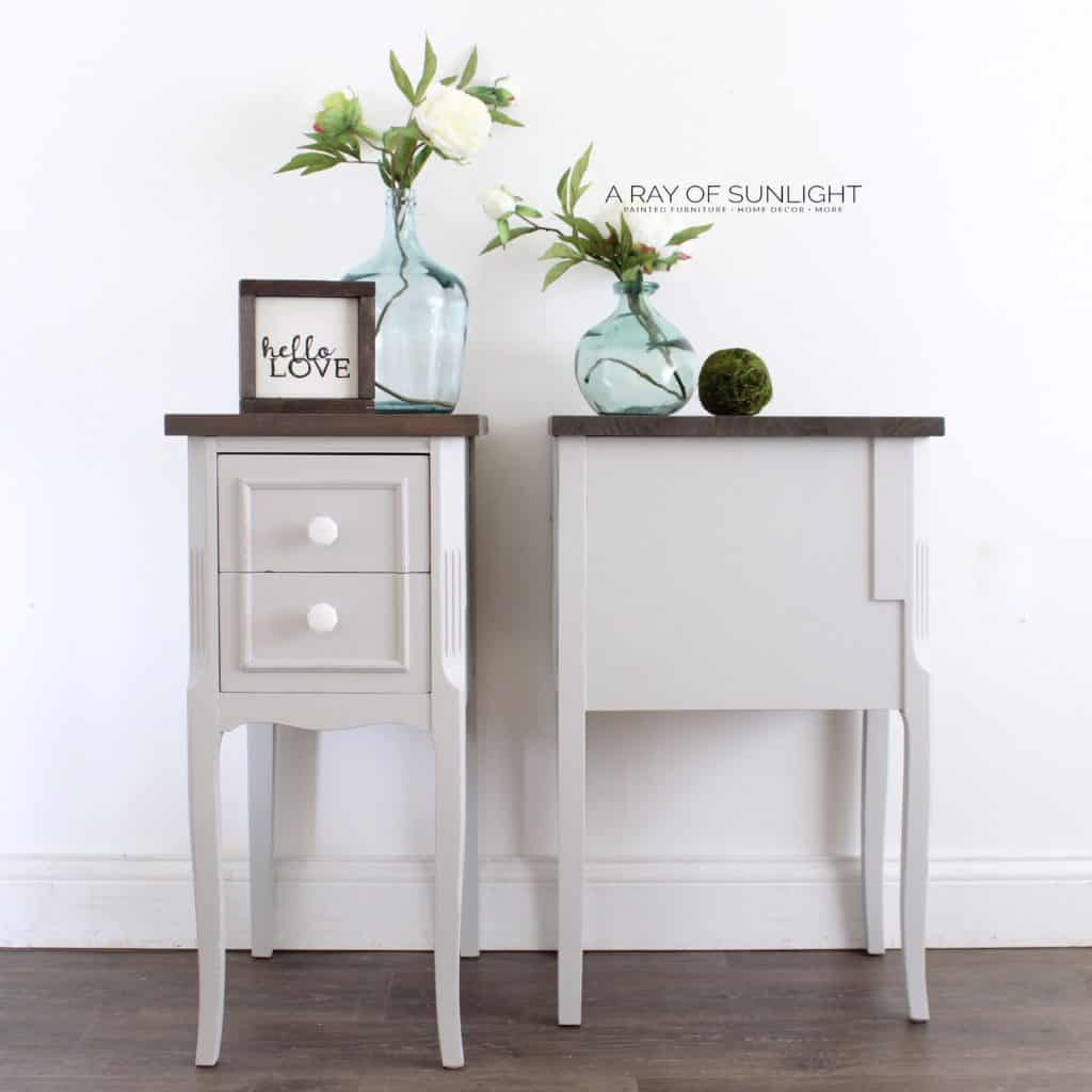 How To Upcycle A Desk Into A Pair Of Nightstands A Ray Of