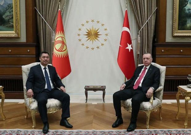 Ərdoğan Qırğızıstan prezidenti ilə görüşdü 09 İyun 2021