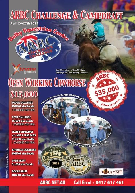 arbc challenge and campdraft flyer