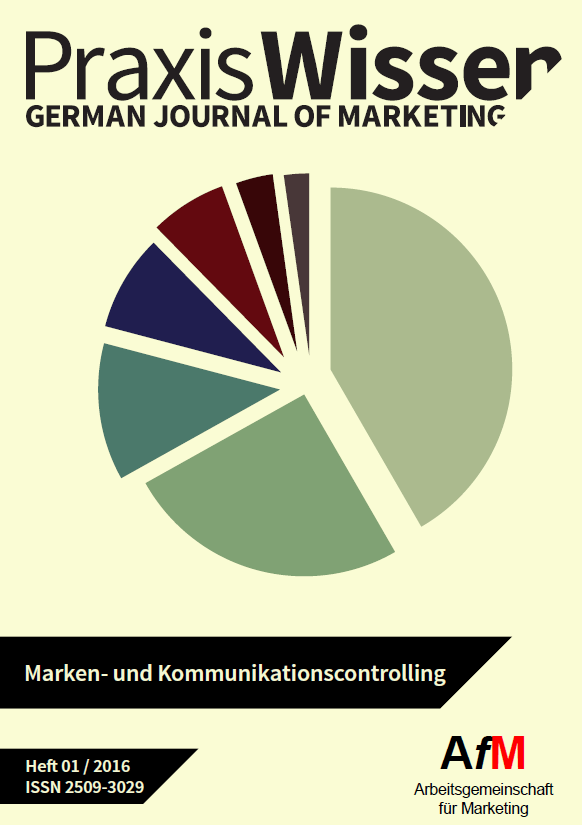 Inhaltsverzeichnis AfM Praxiswissen 01/2016 (German Journal of Marketing)