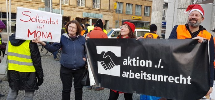 Symths Toys R Us. Protest against Union Busting, Aachen 15. December 2018
