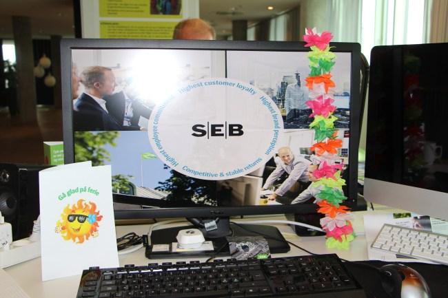 Blomsterkrans i ferietiden - billede og idé fra SEB Pension