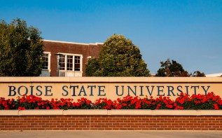 Photo of the Boise State University sign.