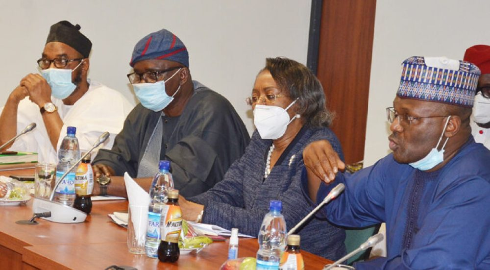 business file - INEC 2021 Budget defence at the National Assembly