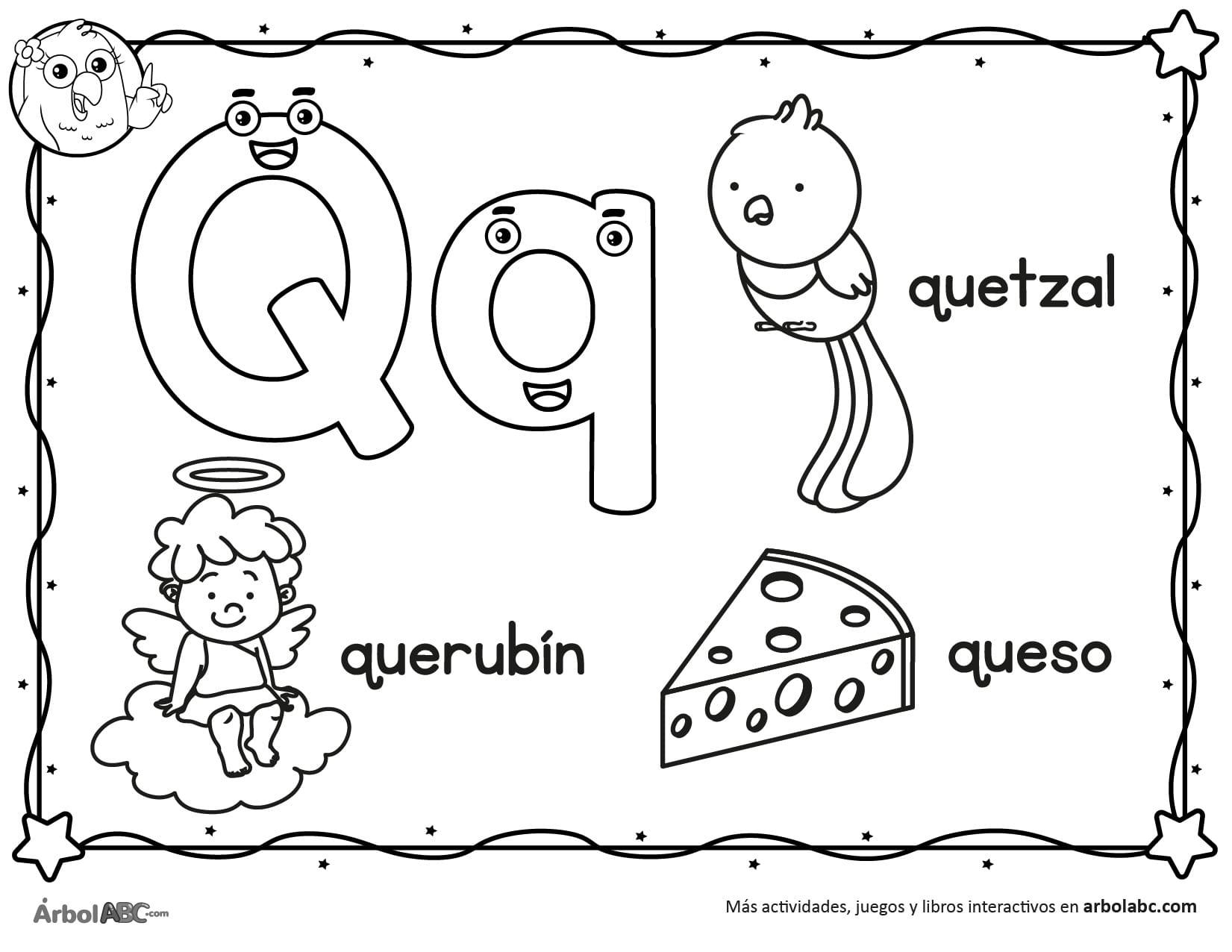 Dibujos Para Colorear Letra Q Dibujos Para Colorear