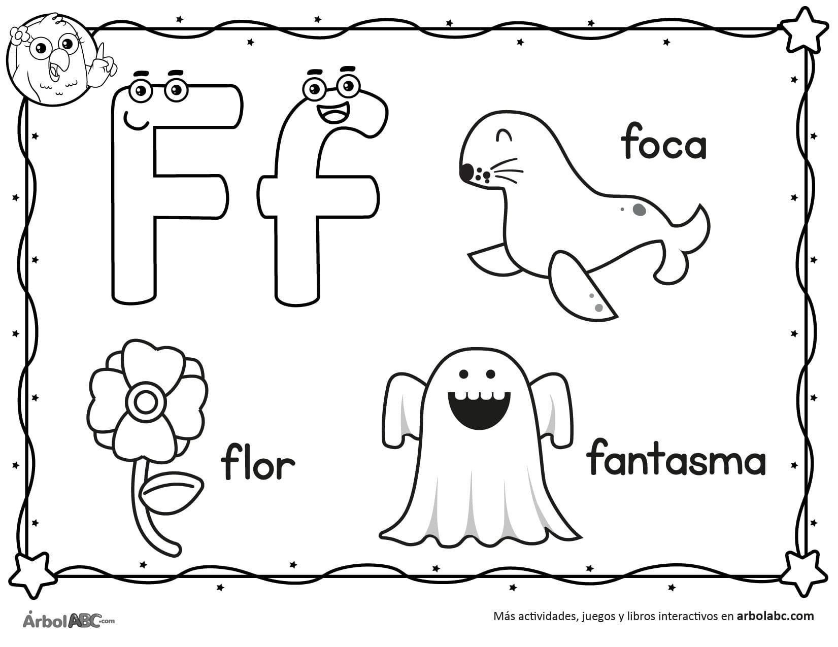 Letra F Para Colorear