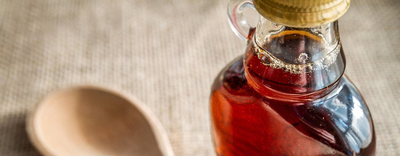 bottled maple syrup
