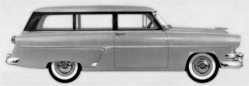 "Image in blog article entitled, ""Website redesign: Column shift, inline-six: One more, once!"": a 1956 Ford station wagon, to illustrate the kind of car we used to be able to maintain ourselves."