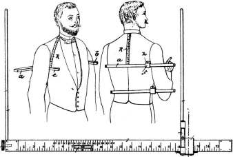 Measuring rule for a tailor's cutter, the vocation taken up by Robert Gordon Kilpatrick.