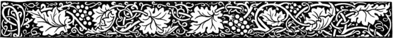 """Grape leaves, grapes, and vine border for decorative purposes; to illustrate the """"Cautionary notes"""" page."""