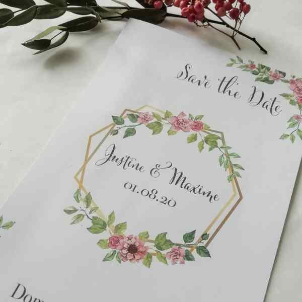 Faire part mariage Bohème