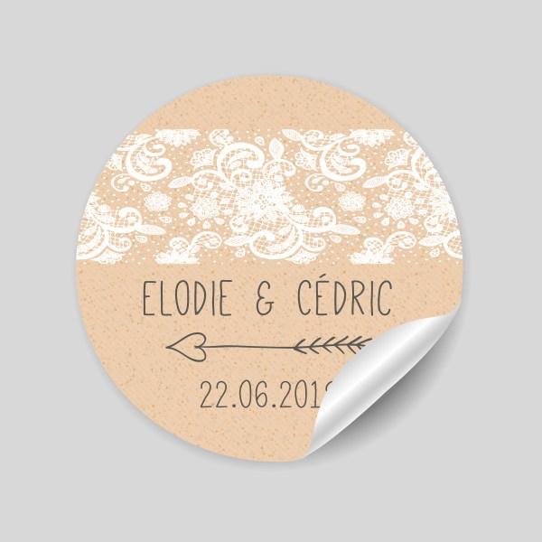stickers mariage Champêtre chic
