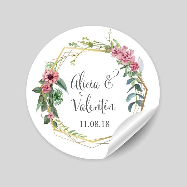 stickers mariage bohème