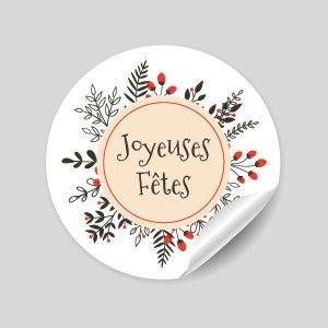 stickers Joyeuses Fêtes