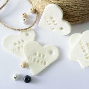 coeur en porcelaine mariage
