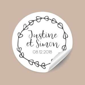 Stickers mariage Rustique