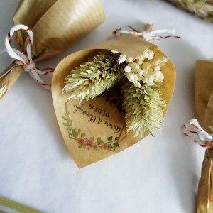 mini bouquet sec mariage