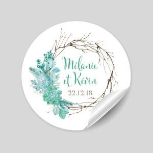 Stickers thème succulentes