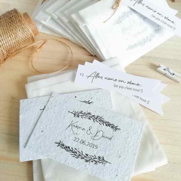 Cartes à planter mariage