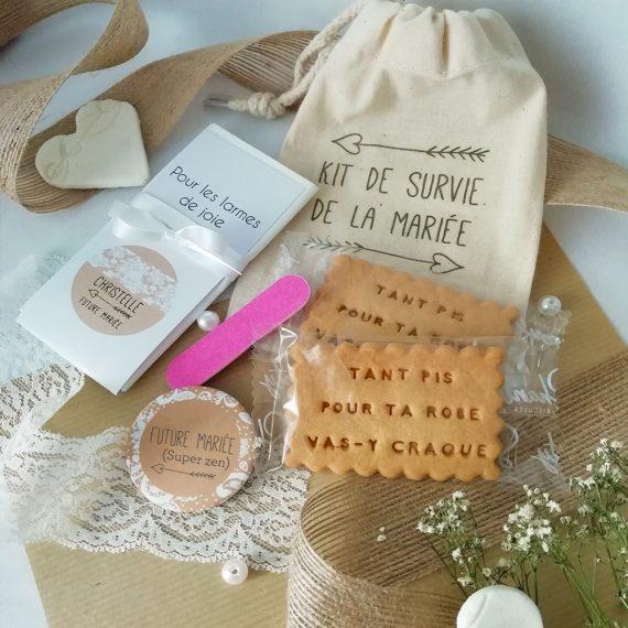 Kit de survie de la mariée collection Champêtre chic