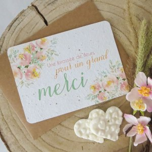 "Grande carte à planter ""merci"""