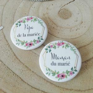 Badge mariage Bohème