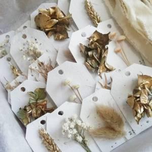 Calendrier de l'avent fleurs séchées