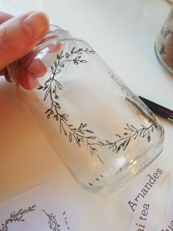 Décoration de bocal en verre vrac