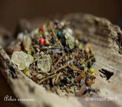 Mélange d'encens rituel en provenance du Maroc
