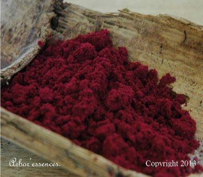 Poudre d'encens Indien à la rose