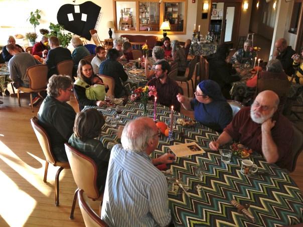 photo of members in dining room