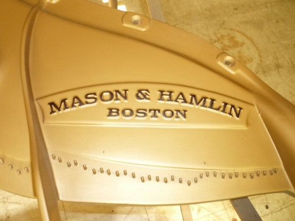 photo of Mason & Hamlin piano logo