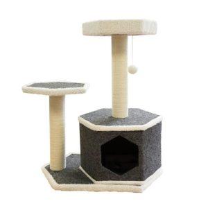 Arbre à chat hexagonale moderne
