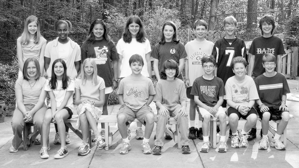 Arbor's Class of 2007, photographed as a group in 2005.