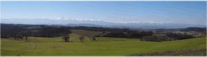 Vue du Lauragais sur les Pyrénées
