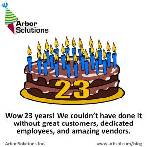Arbor Solutions 23 Years