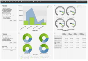 Cognos Express provides an interactive business intelligence experience that enables you to explore and analyze your data within a single personalized workspace.