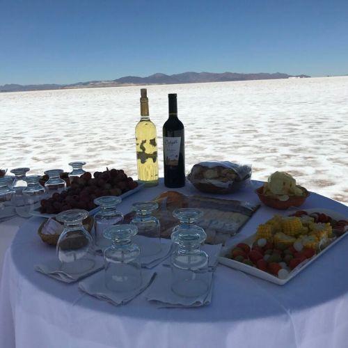 salt flats picnic