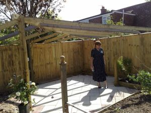 The client inspects the work, Landscaping, Shoreham, Sussex