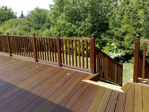 Balau hardwood decking with balustrades