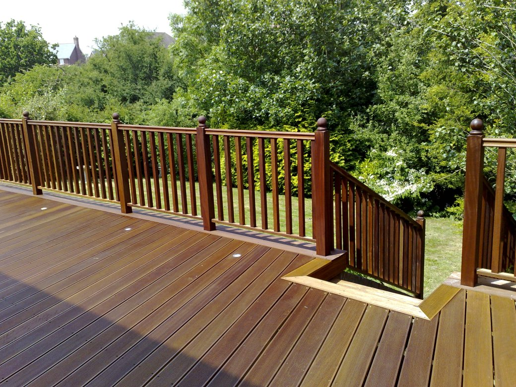 Balau hardwood decking with balustrades