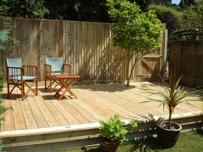 Softwood decking in Portslade, East Sussex