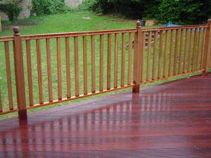 Hardwood handrails for decking, Sussex
