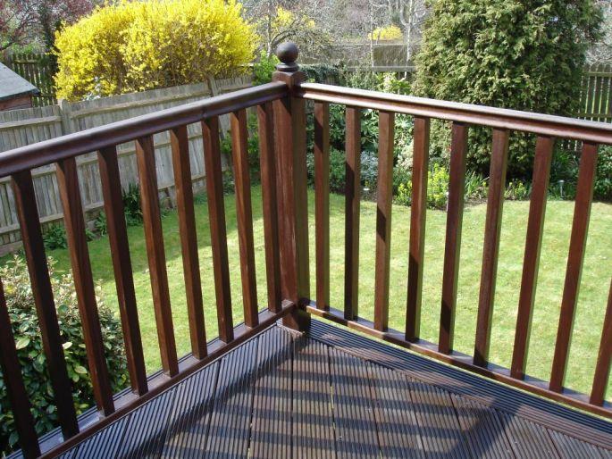 Hardwood handrail for decking, Brighton & hove, Sussex
