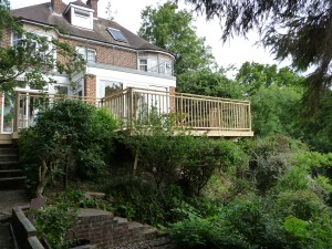 Decking with handrails in Sussex