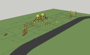 primary school playground equipmet design