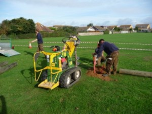 Setting posts in the ground