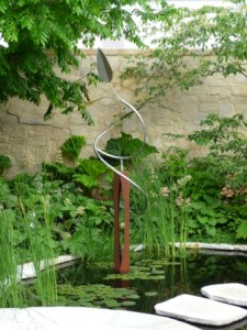 Water features at Chelsea Flower show