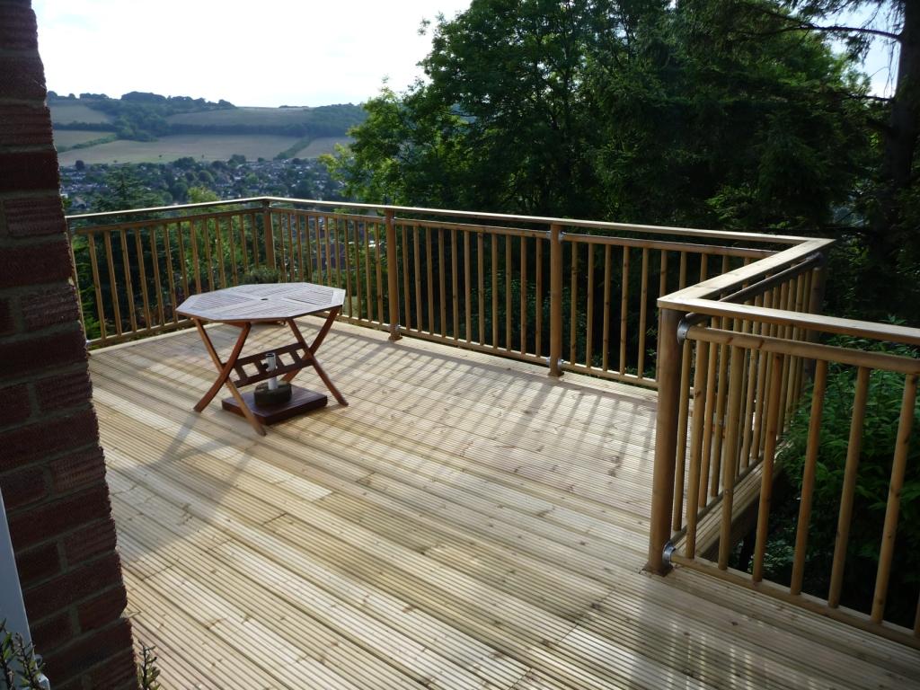 high level decking terrace by Arbworx