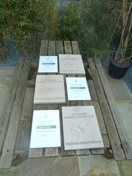 The awards that Arbworx scooped this year for their landscaping works